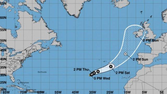 Ofelia se convierte en el huracán número diez de esta temporada en el Atlántico (Foto: Diario Las Américas)