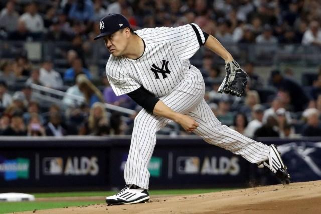 El lanzador de los Yanquis de Nueva York, Masahiro Tanaka. Anthony Gruppuso-USA TODAY Sports