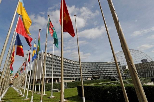 El logotipo de la Organización de las Naciones Unidas para la Educación, la Ciencia y la Cultura (UNESCO) se encuentra frente a su sede en París, Francia, el 4 de octubre de 2017. Foto tomada el 4 de octubre de 2017. REUTERS / Philippe Wojazer