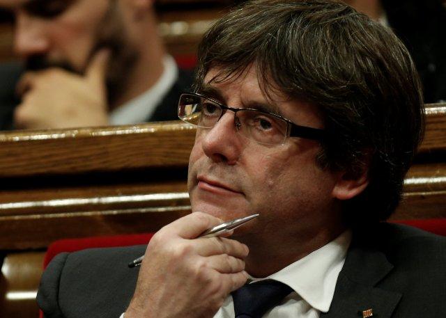 El presidente del gobierno catalán, Carles Puigdemont. REUTERS/Albert Gea
