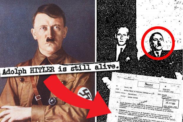Foto: La foto sospechosa de Hitler incluso fue presentada al agente, escaneada y enviada a la CIA / Daily star