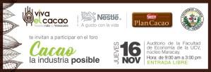 """Foro """"Cacao, la industria posible"""" el 16 de noviembre en la UCV Núcleo Maracay"""