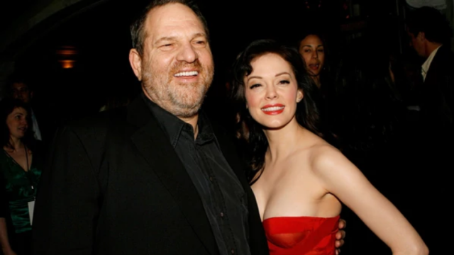 Rose McGowan y Harvey Weinstein (Getty Images)