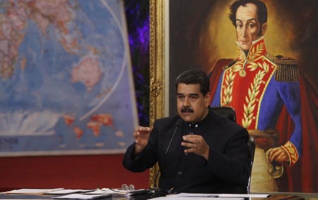Maduro durante la juramentación de Héctor Rodríguez. Foto: @PresidencialVen