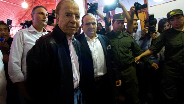 Carlos Menem, en el colegio electoral