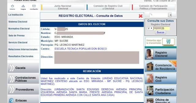 CNE actualiza data en su página web // Foto La Patilla.com