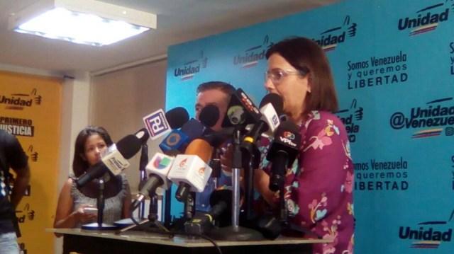 Liliana Hernández, coordinadora electoral de la MUD // Foto @unidadvenezuela