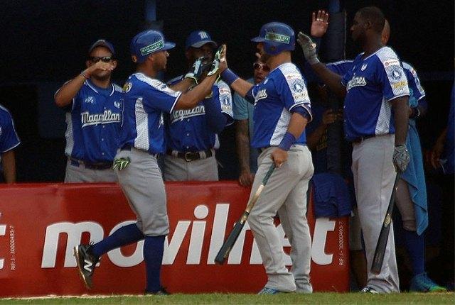 Magallanes se impuso ante Águilas del Zulia // Foto cortesía LVBP