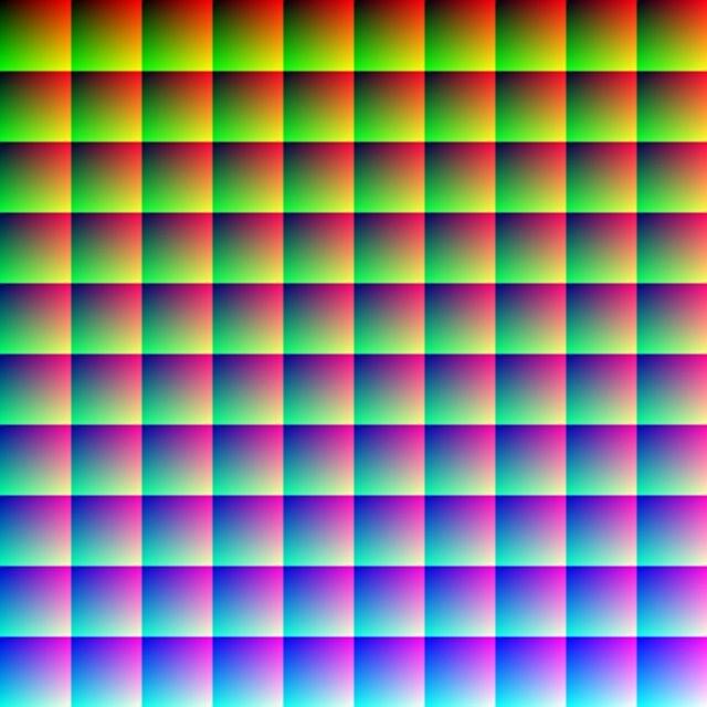 Un millón de colores. Cada píxel de esta imagen tiene un color diferente.