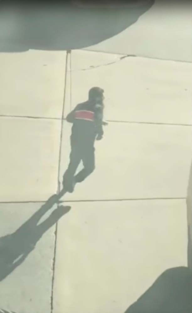 Suspected driver of the pickup truck that mowed down pedestrians and cyclists on a bike path alongside the Hudson River runs after the attack in the middle of a road, in New York City, NY, U.S., in this still image from a video obtained from social media October 31, 2017. TAWHID KABIR XISAN via REUTERS THIS IMAGE HAS BEEN SUPPLIED BY A THIRD PARTY. MANDATORY CREDIT. NO RESALES. NO ARCHIVES. MUST ON SCREEN COURTESY TAWHID KABIR XISAN