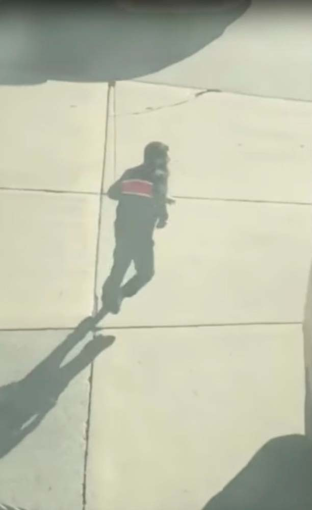 Suspected driver of the pickup truck that mowed down pedestrians and cyclists on a bike path alongside the Hudson River runs after the attack in the middle of a road, in New York City, NY, U.S., in this still image from a video obtained from social media October 31, 2017. TAWHID KABIR XISAN via REUTERS ATTENTION EDITORS - THIS IMAGE HAS BEEN SUPPLIED BY A THIRD PARTY. MANDATORY CREDIT. NO RESALES. NO ARCHIVES. MUST ON SCREEN COURTESY TAWHID KABIR XISAN TPX IMAGES OF THE DAY