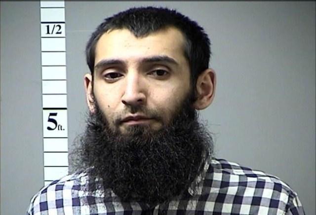 Sayfullo Saipov, detenido por el ataque con una camioneta en Nueva York, en una fotografía entregada por un tercero. 1 de noviembre de 2017.  Departamento de Correcciones del condado de St. Charles/vía REUTERS. ATENCIÓN EDITORES - ESTA IMAGEN HA SIDO ENTREGADA POR UN TERCERO.