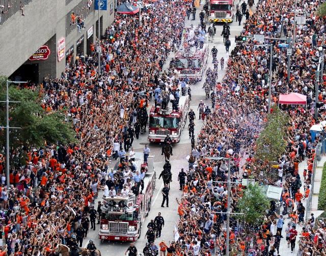 Recibimiento de los Astros de Houston. Shanna Lockwood-USA TODAY Sports