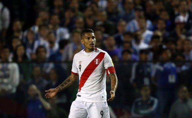 El futbolista peruano Paolo Guerrero. REUTERS/Marcos Brindicci