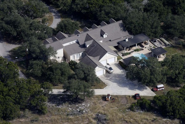 The residence of Devin Patrick Kelley, who is suspected of a mass shooting at the First Baptist Church of Sutherland Springs, is seen in an aerial photo in New Braunfels, Texas, U.S. November 6, 2017. REUTERS/Jonathan Bachman