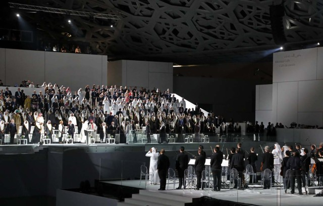 A general view shows part of the Louvre Abu Dhabi Museum designed by French architect Jean Nouvel during its inauguration in Abu Dhabi, UAE, November 8, 2017. REUTERS/Ludovic Marin/Pool RESTRICTED TO EDITORIAL USE - MANDATORY MENTION OF THE ARTIST UPON PUBLICATION - TO ILLUSTRATE THE EVENT AS SPECIFIED IN THE CAPTION
