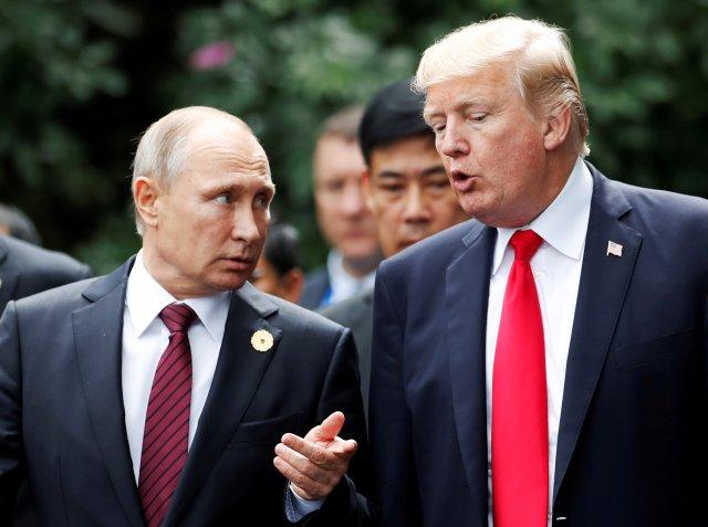 El presidente de EE. UU., Donald Trump, y el presidente de Rusia, Vladimir Putin| REUTERS / Jorge Silva