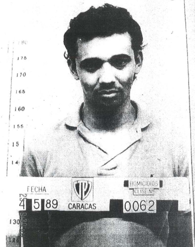 """Maikel Moreno is seen in a police mugshot taken in Caracas, Venezuela. The writing on the photograph reads """"Date May 4, 1989, Caracas, Homicides."""" Courtesy of investigative Judicial Police/Handout via REUTERS ATTENTION EDITORS - THIS PICTURE WAS PROVIDED BY A THIRD PARTY. NO SALES. NO ARCHIVE."""