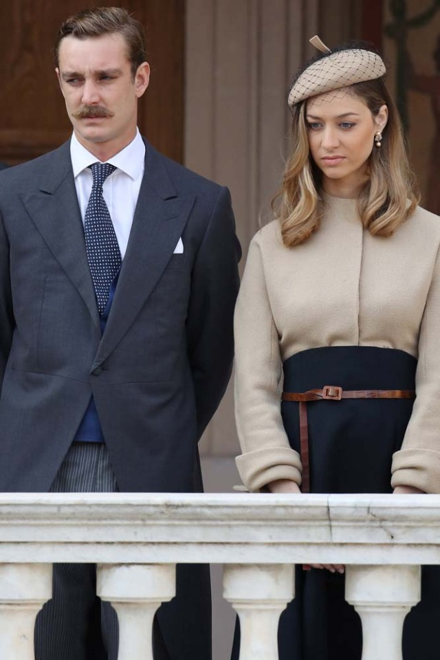 Pierre Casiraghi and Beatrice Borromeo attend the celebrations marking Monaco's National Day at the Monaco Palace, in Monaco, November 19, 2017. REUTERS/Valery Hache/Pool