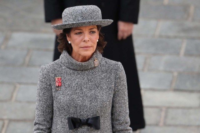 Princess Caroline of Hanover attends the celebrations marking Monaco's National Day at the Monaco Palace, in Monaco, November 19, 2017. REUTERS/Valery Hache/Pool