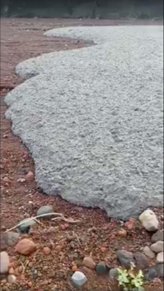 Cooled lava is seen near the base of Mount Agung, in Bali, Indonesia, in this still image taken from a video obtained by Reuters from social media, November 27, 2017. Ikomang Sumerta/via REUTERS ATTENTION EDITORS - THIS IMAGE HAS BEEN SUPPLIED BY A THIRD PARTY. MANDATORY CREDIT.NO RESALES. NO ARCHIVES.