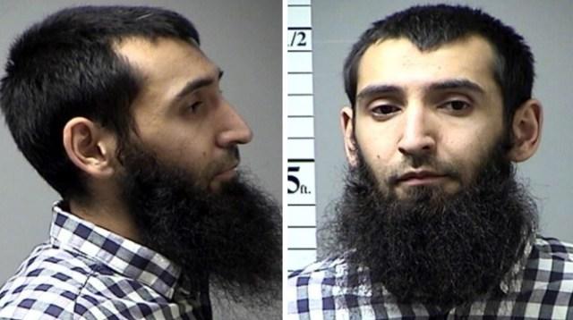 THM01. ST. CHARLES (ESTADOS UNIDOS), 01/11/2017.- Combo de imágenes sin datar cedida el 1 de noviembre del 2017 por St. Charles County, Missouri, Department of Corrections del presunto autor del atentado perpetrado este martes en Nueva York, Sayfulló Saípov, tras ser arrestado en 2016. EFE/ST. CHARLES COUNTY DEPARTMENT OF CORRECTIONS / SÓLO USO EDITORIAL - NO VENTAS