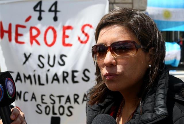 Marta Vallejos, hermana de uno de los 44 tripulantes del submarino argentino desaparecido en el océano Atlántico desde el 15 de noviembre. EFE