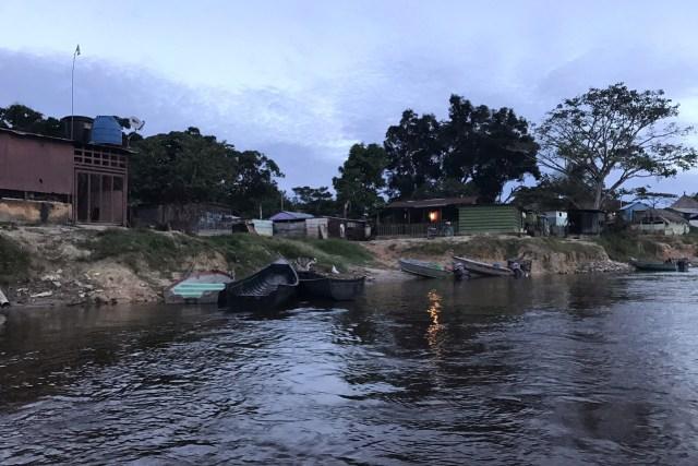 Una imagen de El Casabe, una aldea indígena junto al río en lo profundo de la sabana del estado de Bolívar, donde 800 personas son elegibles para votar. FOTO: ANATOLY KURMANAEV / THE WALL STREET JOURNAL