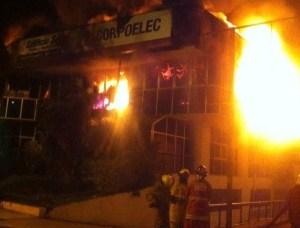 Motta Domínguez denuncia que incendio en Corpoelec Táchira fue provocado