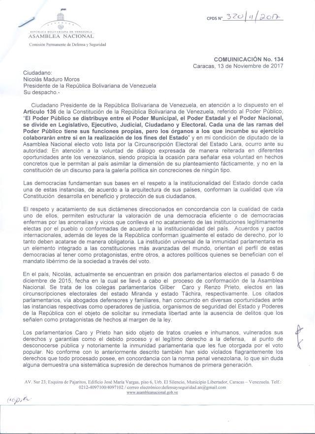 Presidente caso Gilberto Caro