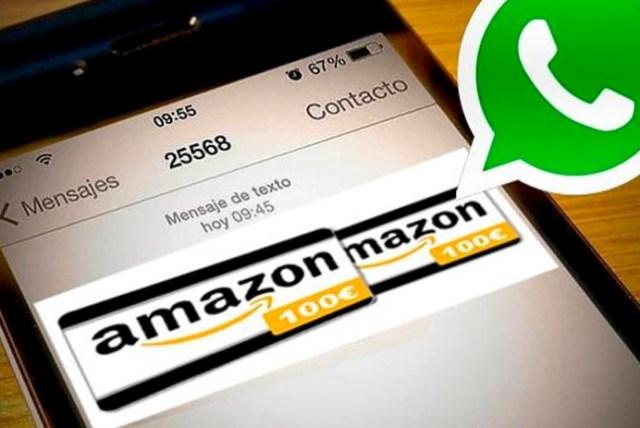 Falso cupón de Amazon contiene virus para Whastapp (Foto archivo)