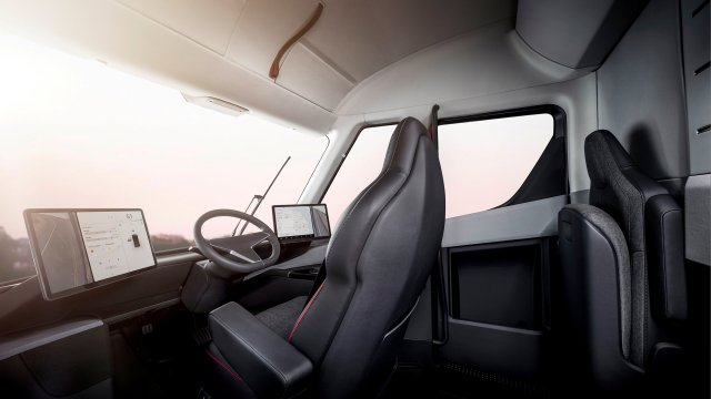 Undated handout image of the interior of the Tesla Semi