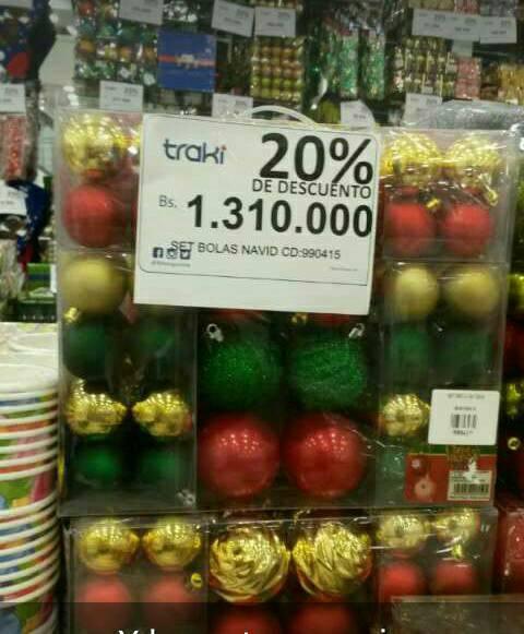 Set de bolas navideñas para decorar