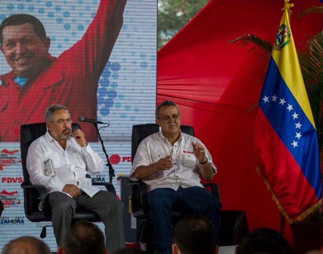 Nelson Martínez y Eulogio del Pino (Foto EFE)