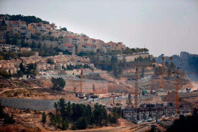 Una construcción en un asentamiento judío en el sector este, mayormente palestino, de Jerusalén, en noviembre Credit Ahmad Gharabli/Agence France-Presse — Getty Images