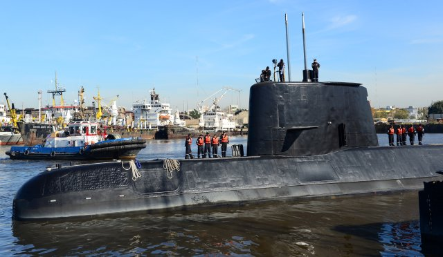El submarino militar argentino ARA San Juan. Argentine Navy/Handout via REUTERS ATTENTION EDITORS - THIS IMAGE WAS PROVIDED BY A THIRD PARTY.