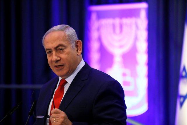 Israeli Prime Minister Benjamin Netanyahu speaks at the 2nd International Conference on Digital Diplomacy, in Jerusalem December 7, 2017. REUTERS/Ronen Zvulun