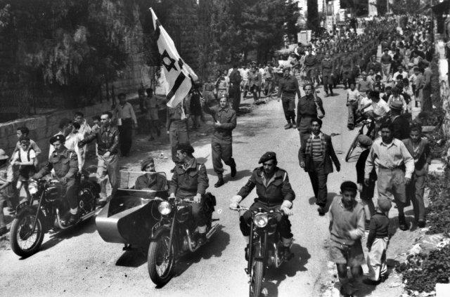 Integrantes del Haganá en Jerusalén en abril de 1948 Credit Israeli Government Press Office, via Getty Images