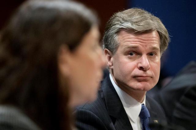 El director del Buró Federal de Investigaciones (FBI), Christopher Wray. EFE/MICHAEL REYNOLDS