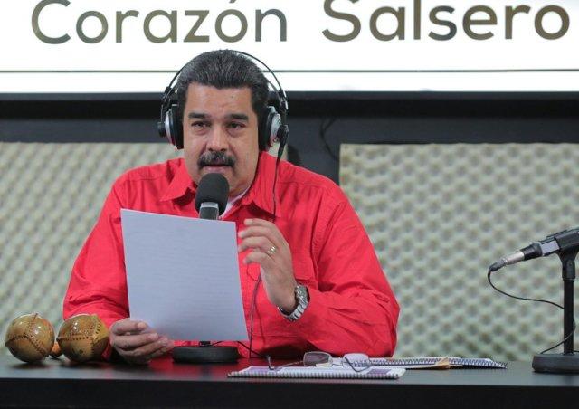 Nicolás Maduro en el programa La Hora de La Salsa. Foto: Prensa presidencial