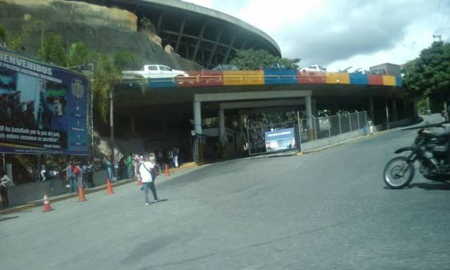Los alrededores de El Helicoide este domingo 24 de diciembre / LaPatilla.com