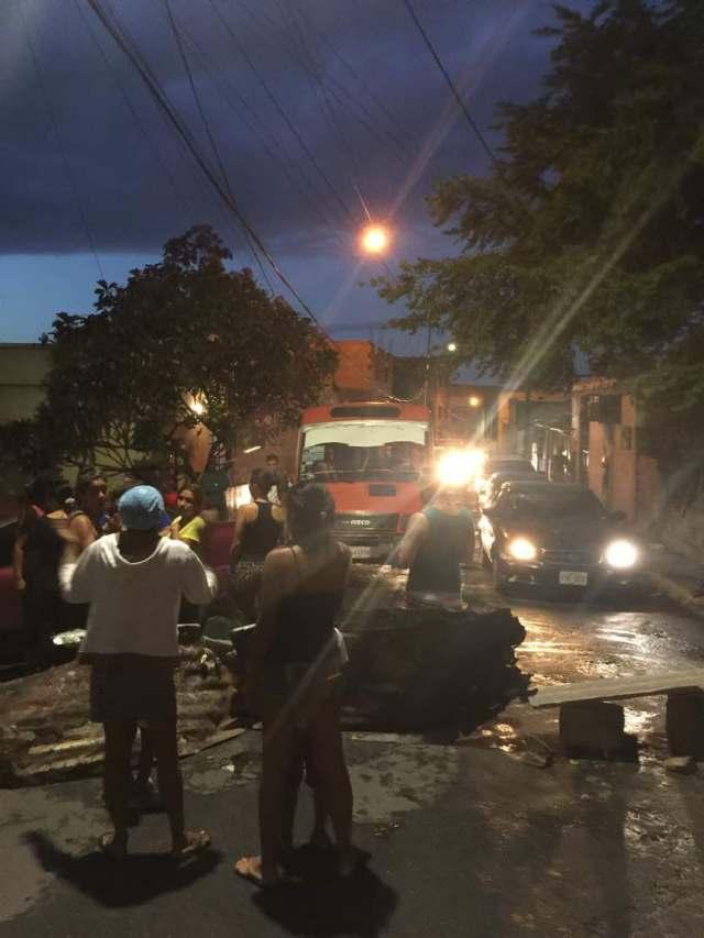 Protesta en Maiquetía, estado Vargas