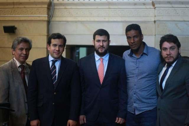con el Presidente de la Cámara de Representantes, Rodrigo Lara