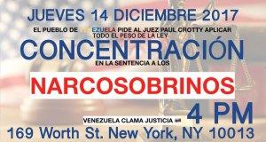Venezolanos protestarán ante Corte de Nueva York para pedir castigo para narcosobrinos