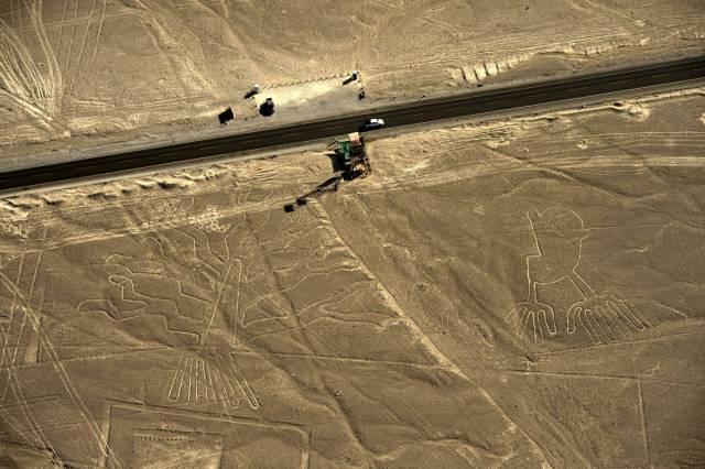 Vista aérea de los geoglifos de las Líneas de Nazca, en Perú, en una foto de archivo. MARTIN BERNETTI GETTY
