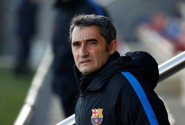 El entrenador del Barcelona, Ernesto Valverde.  REUTERS/Juan Medina