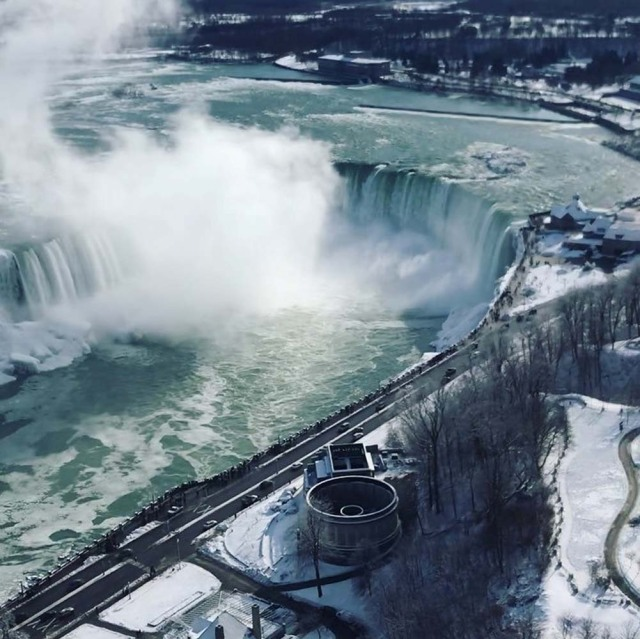 Water flows over the Niagara Falls viewed from the Canadian side, Ontario, Canada January 2, 2018 in this picture obtained from social media. COURTESY of THOMAS BVRD /via REUTERS THIS IMAGE HAS BEEN SUPPLIED BY A THIRD PARTY. MANDATORY CREDIT. NO RESALES. NO ARCHIVES