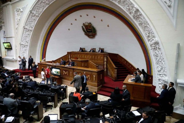 A general view of Venezuela's National Assembly during a session in Caracas, Venezuela, January 9, 2018. REUTERS/Marco Bello