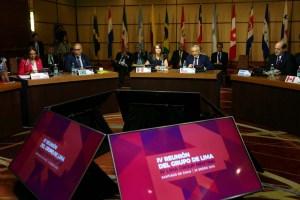 Grupo Lima buscará pasos adicionales para lograr la democracia en Venezuela