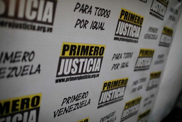 Logo del partido Primero Justicia REUTERS/Marco Bello